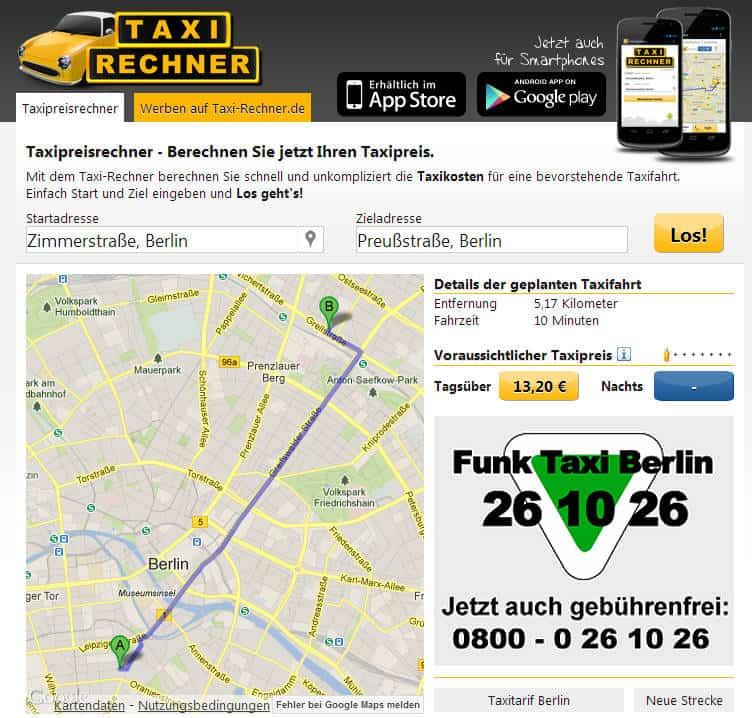 taxifahrt in berlin berechnen update sebastian. Black Bedroom Furniture Sets. Home Design Ideas